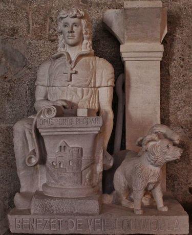 Eglise de Burzet statue de Saint Bénézet 1996