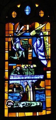 Eglise de Burzet vitrail Saint Bénézet XXe siècle