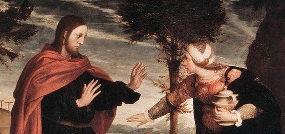 Hans Holbein le jeune, noli me tangere - détail 1