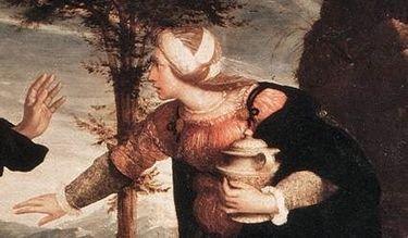 Hans Holbein le jeune, noli me tangere - détail 2