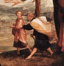 Hans Holbein le jeune, noli me tangere - détail 3