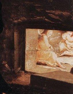Hans Holbein le jeune, noli me tangere - détail 4