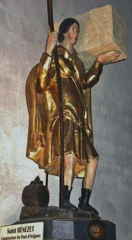 Statue reliquaire de Saint Bénézet - Avignon