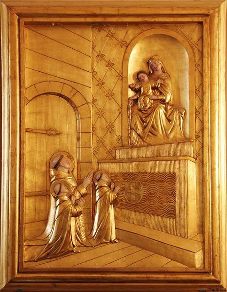 Morlaas, église Sainte-Foy - le Bx Bernard et ses deux jeunes disciples invités au Ciel