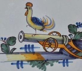 Coq sur un canon (époque révolutionnaire)