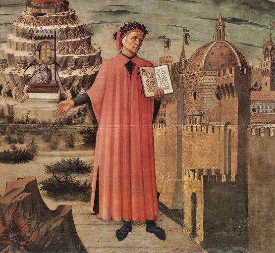 Domenico di Michelino - 1465 - Dante illuminant Florence par son oeuvre