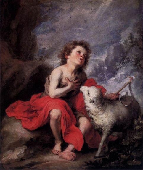 Esteban Murillo -  Saint Jean-Baptiste enfant