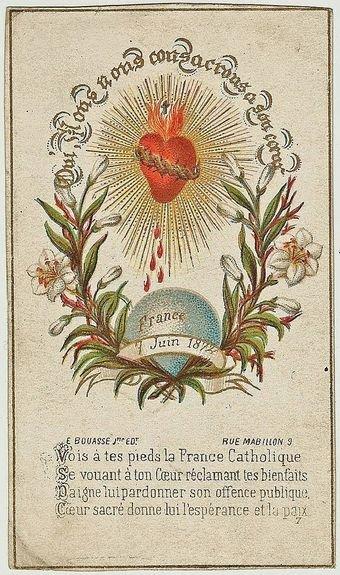 Image pour la fête du Sacré-Coeur 7 juin 1872