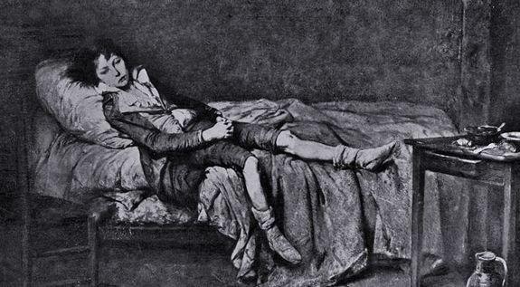 Louis XVII mourant