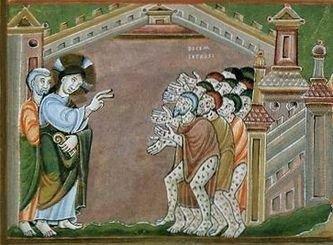 Guérison des dix lépreux détail 1