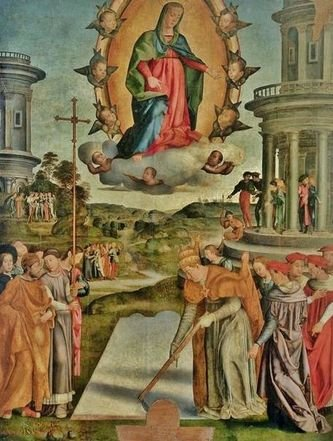 Niccolò Soggi - Miracle de la neige 1520-24 -Musée diocésain d'Arezzo