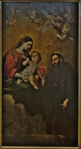 Saint Augustin avec la Vierge et l'Enfant Jésus lui transverbérant le coeur - musée des beaux arts Séville