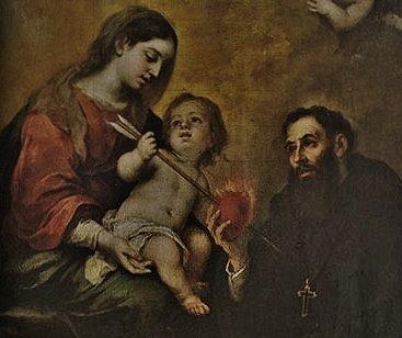 St Augustin avec la Vierge et l'Enfant Jésus - Séville (détail)