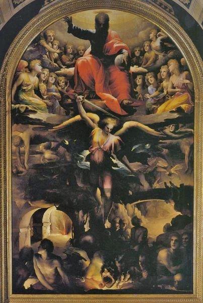 Domenico Beccafumi Sienne église San Niccolò al Carmine chute des anges rebelles