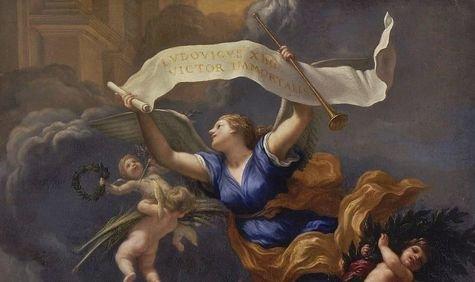 La gloire de Louis XIV triomphe du temps (détail) - Baldassare Franceschini