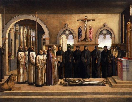 Lazzaro Bastiani - les funérailles de Saint Jérôme - 1470-72