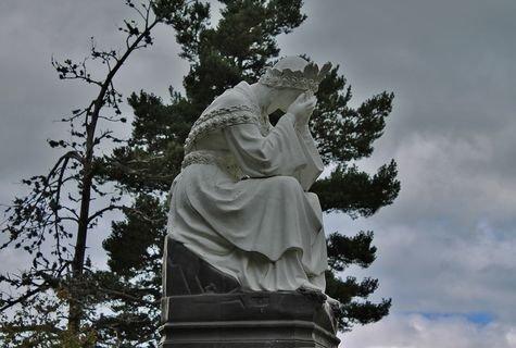 Montusclat - Croix de l'étoile, Vierge en pleurs
