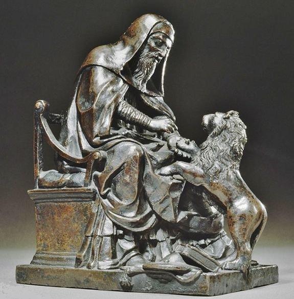 Saint Jérôme et le lion - Bartolomeo Bellano musée du Louvre