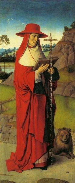 Saint Jérôme - Thierry Bouts 1458 triptyque du martyre de St Erasme