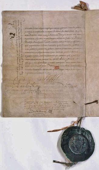 Edit de Fontainebleau dernière page - Archives Nationales