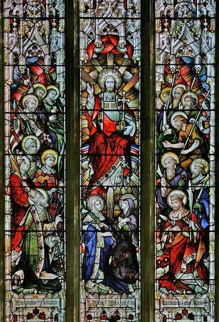 Le Christ en sa gloire entouré des saints