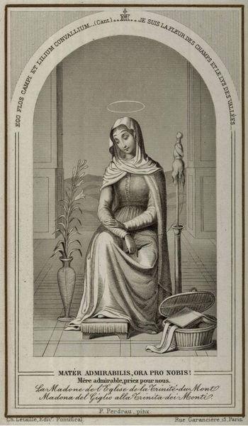 Mater admirabilis - image dévotion XIXe siècle