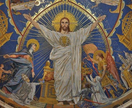 Montmartre détail de la mosaïque de l'abside - 1