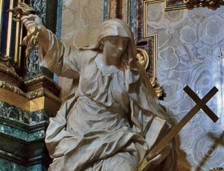 Pierre Le Gros, dit le jeune - la religion terrassant l'hérésie et la haine - détail