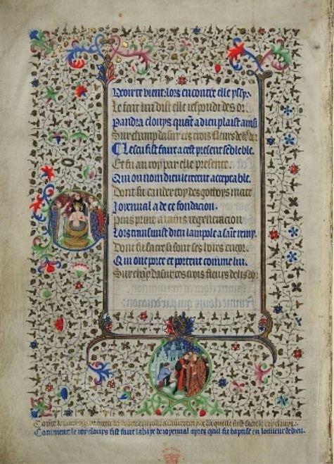 Heures de Bedford 3ème page feuillet 298 verso