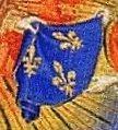 Heures de Bedford-détail fleurs de lys