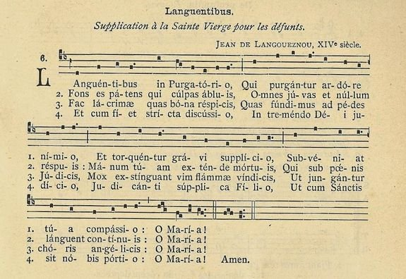 Languentibus - Oraison à la Vierge de Compassion pour les âmes des trépassés