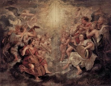 Pierre-Paul Rubens - anges musiciens