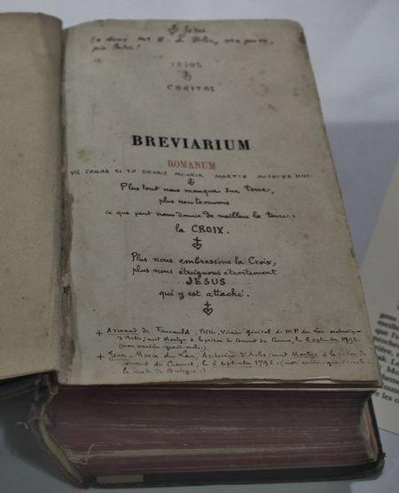 Viviers séminaire expo Foucauld bréviaire