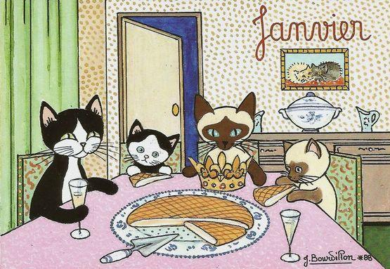 Epiphanie - la galette des chats