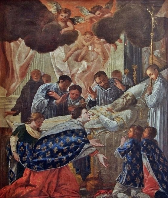 Ste Bathilde près du lit mortuaire de St Eloi