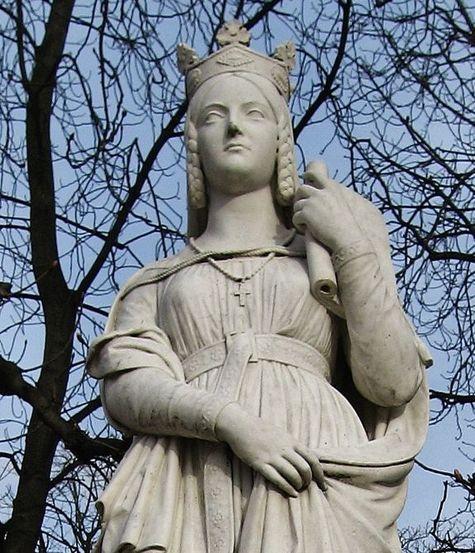 Ste Bathilde statue dans les jardins du Palais du Luxembourg (Paris)