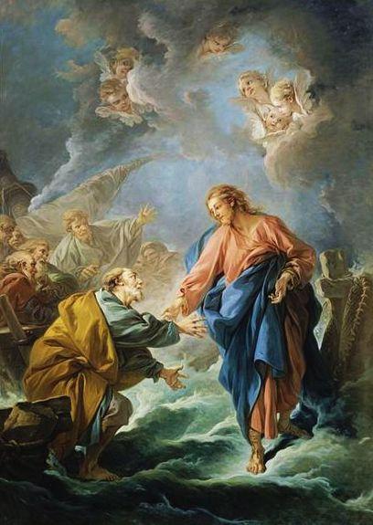 François Boucher-St Pierre tentant de marcher sur les eaux-1766