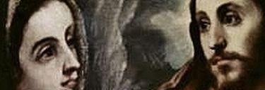 Le Greco - le Christ faisant Ses adieux à Sa Mère - détail les regards