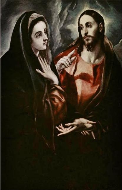 Le Greco - le Christ faisant Ses adieux à Sa Mère - Tolède 1595