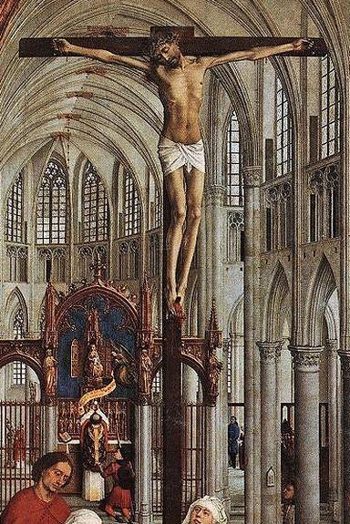 R. van der Weyden retable des sept sacrements détail