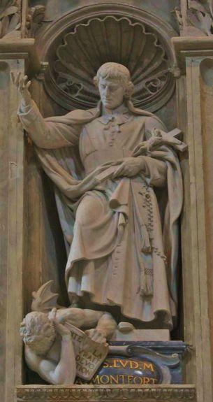 Statue de Saint Louis-Marie basilique vaticane