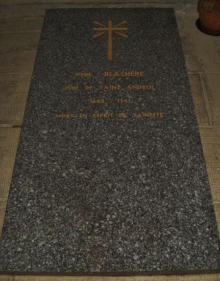 St-Andéol de F. tombe de l'abbé Blachère