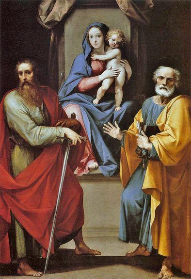 Giuseppe Cesari 1608-09 vierge à l'enfant avec les sts Pierre et Paul