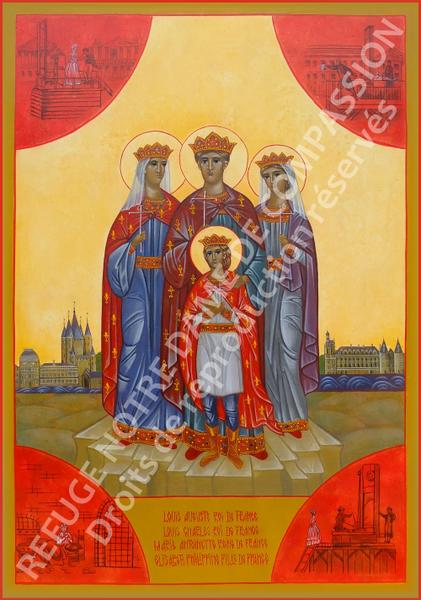 Icône des martyrs royaux filigranée 421x600