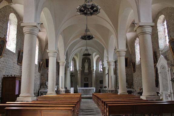 Saint-Martial intérieur de l'église - 30 juin 2016