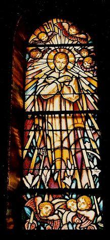Vitrail de St Louis de Gonzague -chapelle de La Colombière