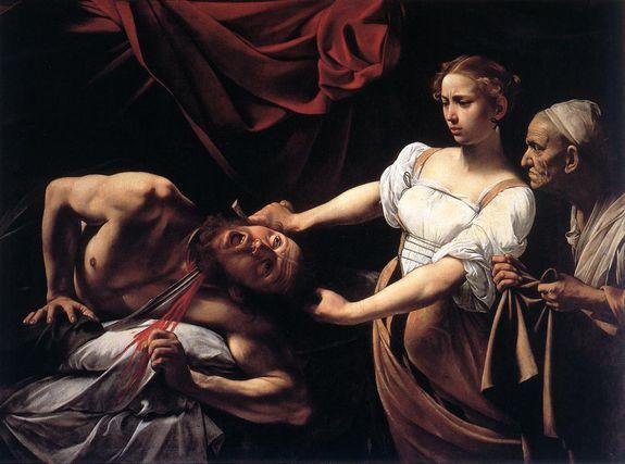 Caravage Judith tranchant la tête d'Holopherne 1598