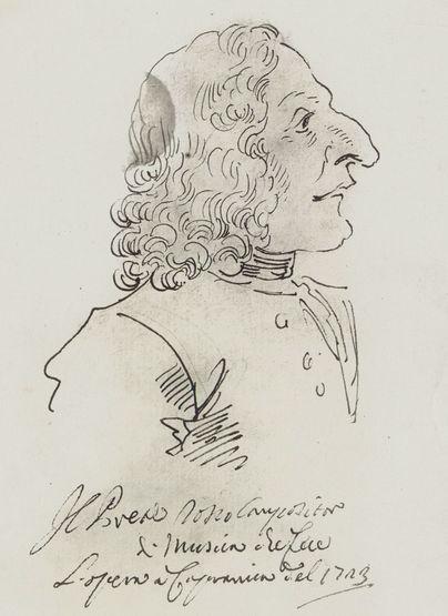 seul portrait authentique Vivaldi Rome - 1723
