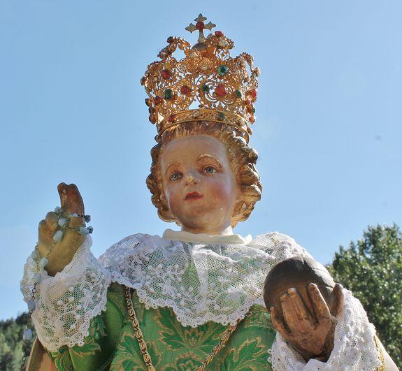 Enfant Jésus de Prague robe verte 3