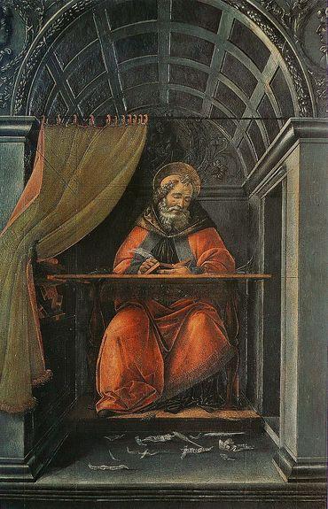 Sandro Botticelli - St Augustin dans son cabinet de travail - Florence Offices